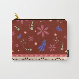 Otavalo print - red Carry-All Pouch