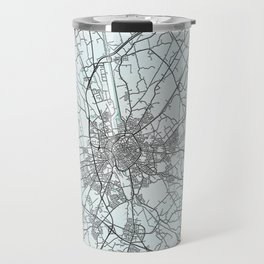 Bruges, Belgium, White, City, Map Travel Mug