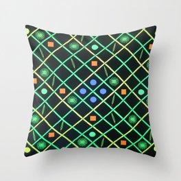Dot's Diamond's and Squares Throw Pillow