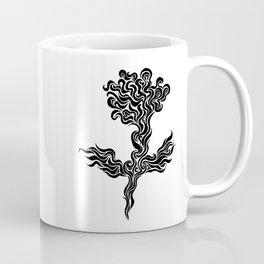 Phoenix Flower Lineart Coffee Mug