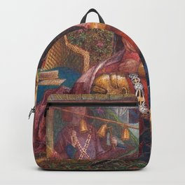 Dante Gabriel Rossetti - The Wedding of St George and Princess Sabra Backpack