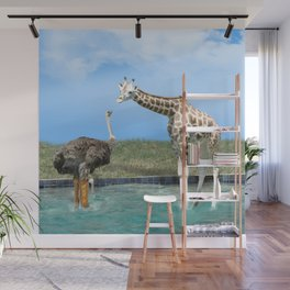 The Ostrich with Galoshes Wall Mural