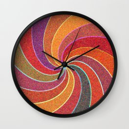 Flower Show Colors Wall Clock