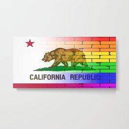 Gay Rainbow Wall California Flag Metal Print