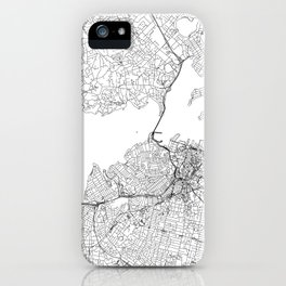 Auckland White Map iPhone Case