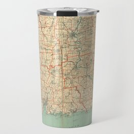 Vintage Map of Connecticut (1823) Travel Mug