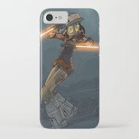 bouletcorp iPhone & iPod Cases featuring LaserGirl by Bouletcorp