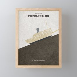 Fitzcarraldo Alternative Minimalist Poster Framed Mini Art Print