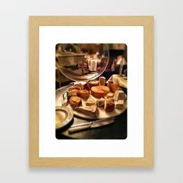 Cheese Cart at Chateau De Fere, France Framed Art Print