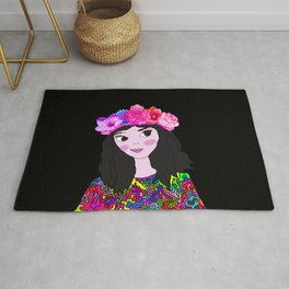 Spring in the Heart of Winter | Kids Painting Rug