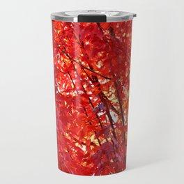 FIERY RED - FALL LEAVES Travel Mug