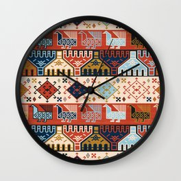 Dena in Red and Cream Wall Clock