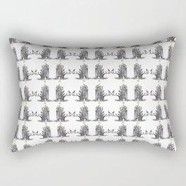 Gray Trolls Pattern Rectangular Pillow