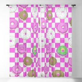 A King Cake Donut Sheer Curtain