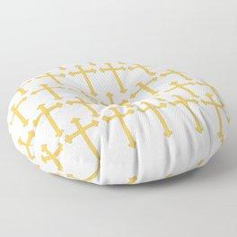 Golden Cross Pattern Floor Pillow
