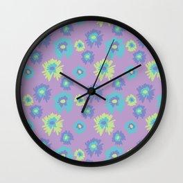 flower pattern/print purple Wall Clock