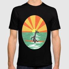 Surf Unicorn Mens Fitted Tee Black MEDIUM