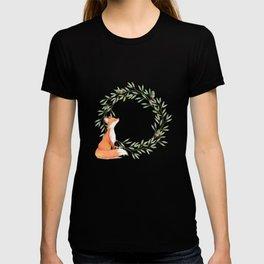 Cute Fox Looking at Acorns T-shirt