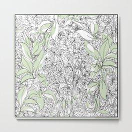 Begonias & Mums Metal Print
