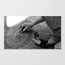 Chalk Artist Canvas Print