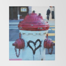 Love Fire Hydrant Throw Blanket
