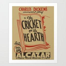 The Cricket on the Hearth Art Print