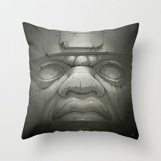 Olmeca I. Throw Pillow