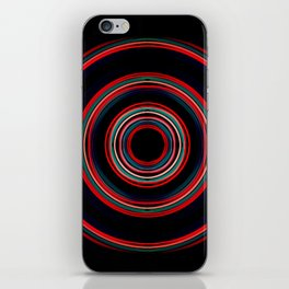 red lens iPhone Skin