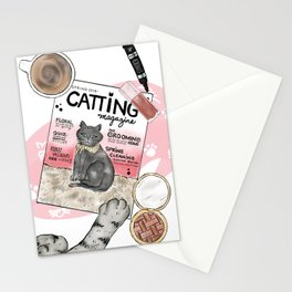 Monday Morning Essentials - featuring Catting Magazine, Spring 2018 Stationery Cards