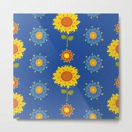 Sunflowers of Ukraine Metal Print