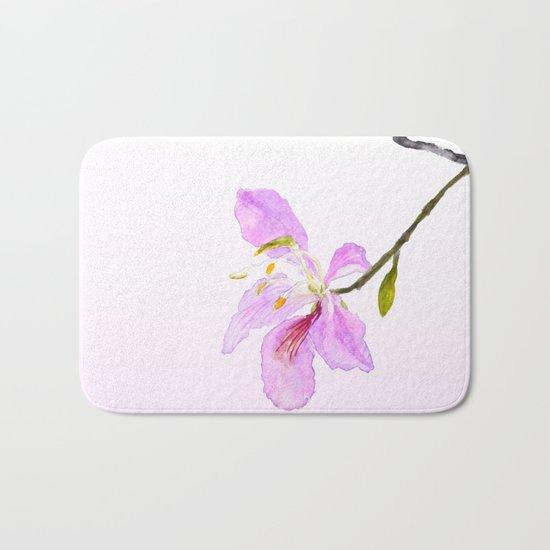 purple Buahinia Bath Mat