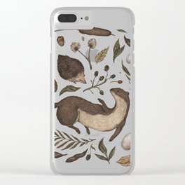 Weasel and Hedgehog Clear iPhone Case