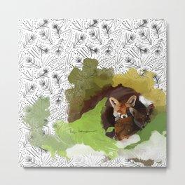 Littlest Foxes Metal Print