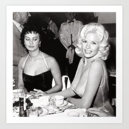 'Best Envy' Iconic Hollywood Starlet Black and White Photograph Art Print