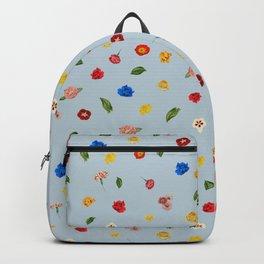Heart Floral (Blue) Backpack