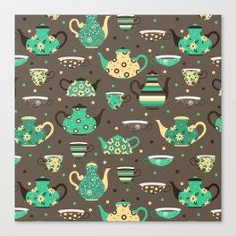 Tea pattern. Canvas Print