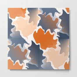 Funky shapes Falling Leaves Abstract  Metal Print