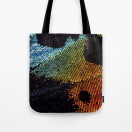 Vibrant Iridescence of The Madagascan Sunset Moth Tote Bag