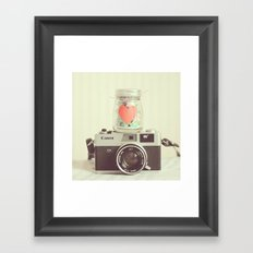 Vintage Camera Love  Framed Art Print