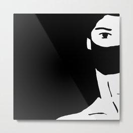 Eyes in black Metal Print