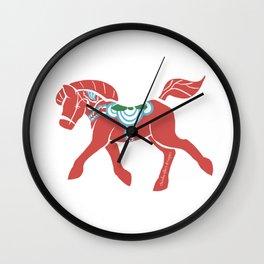 Real Dala Horse #2 Wall Clock