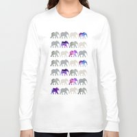 elephants Long Sleeve T-shirts featuring elephants by shop