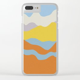 Over The Sunset Mountains Clear iPhone Case