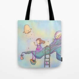 Up on the treetop Tote Bag