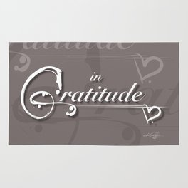 In Gratitude by Kathy Morton Stanion Rug