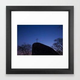 Blue Cross Framed Art Print