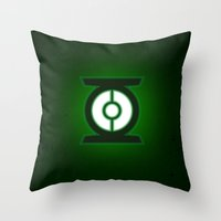 green lantern Throw Pillows featuring Green Lantern by Some_Designs