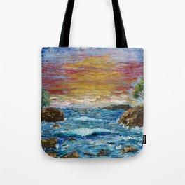 """Somewhere Sunset"" Tote Bag"