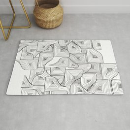 Abstract Linework - Life is a Maze Rug