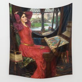 "John William Waterhouse - ""I am half sick of shadows"" said the Lady of Shalott Wall Tapestry"